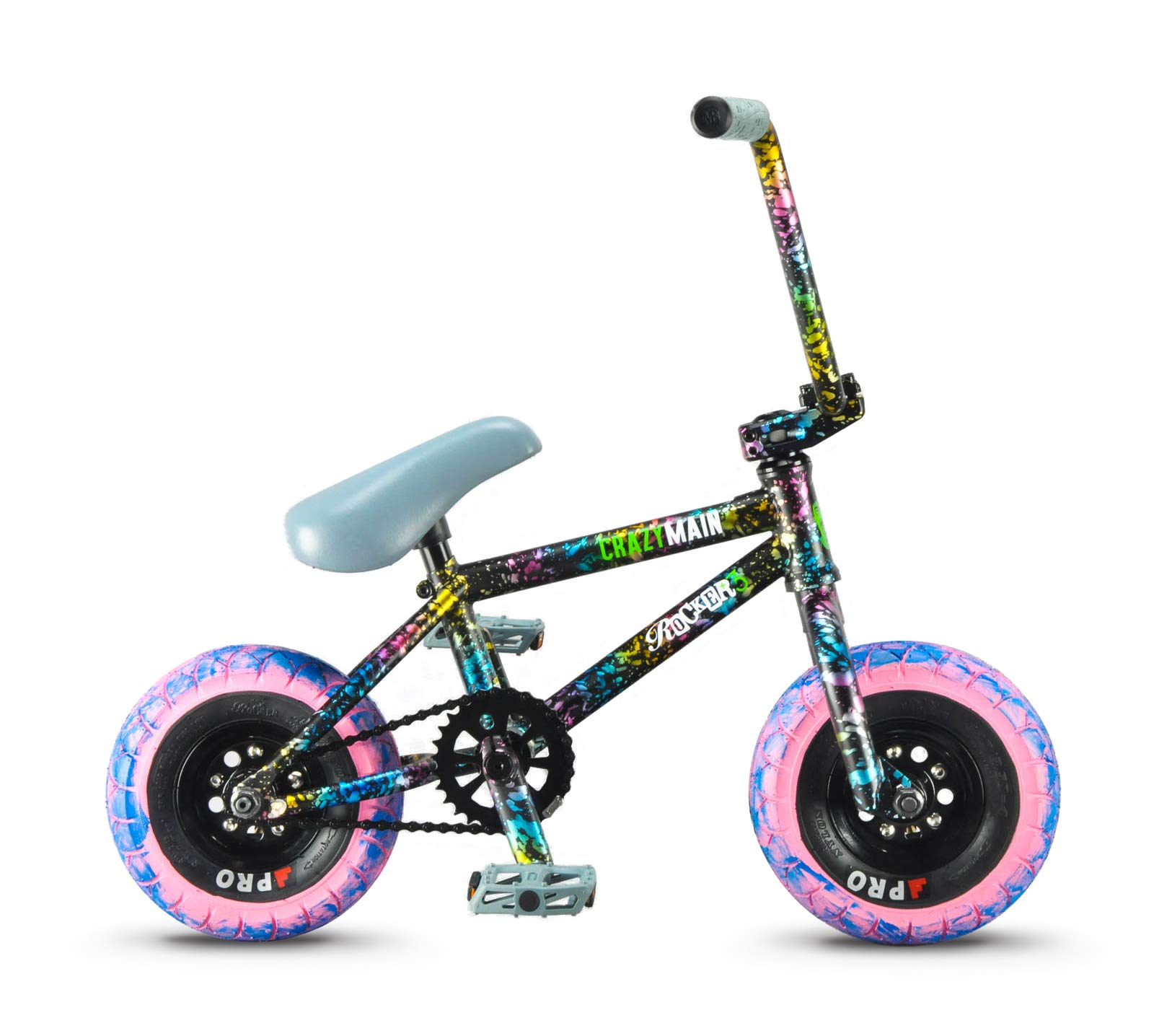Rocker 3+ Freecoaster Crazy Main Splatter Mini BMX Bike: Amazon.es ...