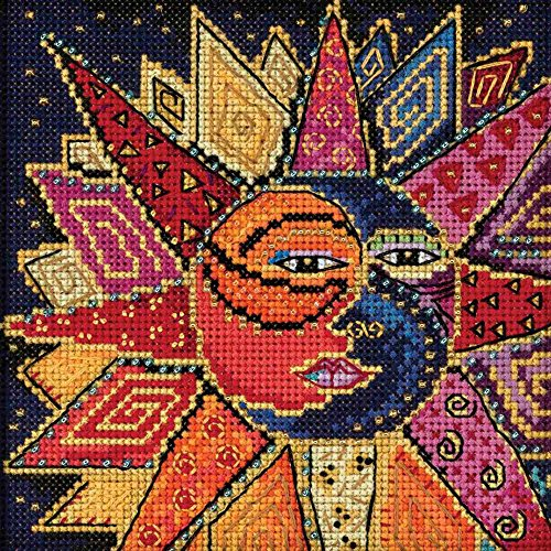 Mill Hill Sun and Moon Dance Beaded Counted Cross Stitch Kit 2018 Laurel Burch Celestial Collection LB141814 (Moon Designs Counted Cross Stitch)
