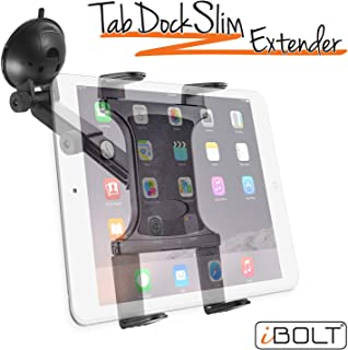 iBOLT Tabdock Slim Suction Cup Extender -Holder/Mount for Your Windshield, Dashboard, or Desk - Compatible with All 7