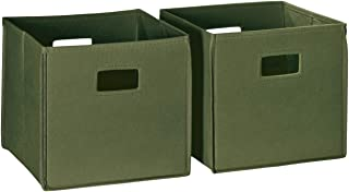 RiverRidge Home 02-184 Folding Storage Bins, Olive