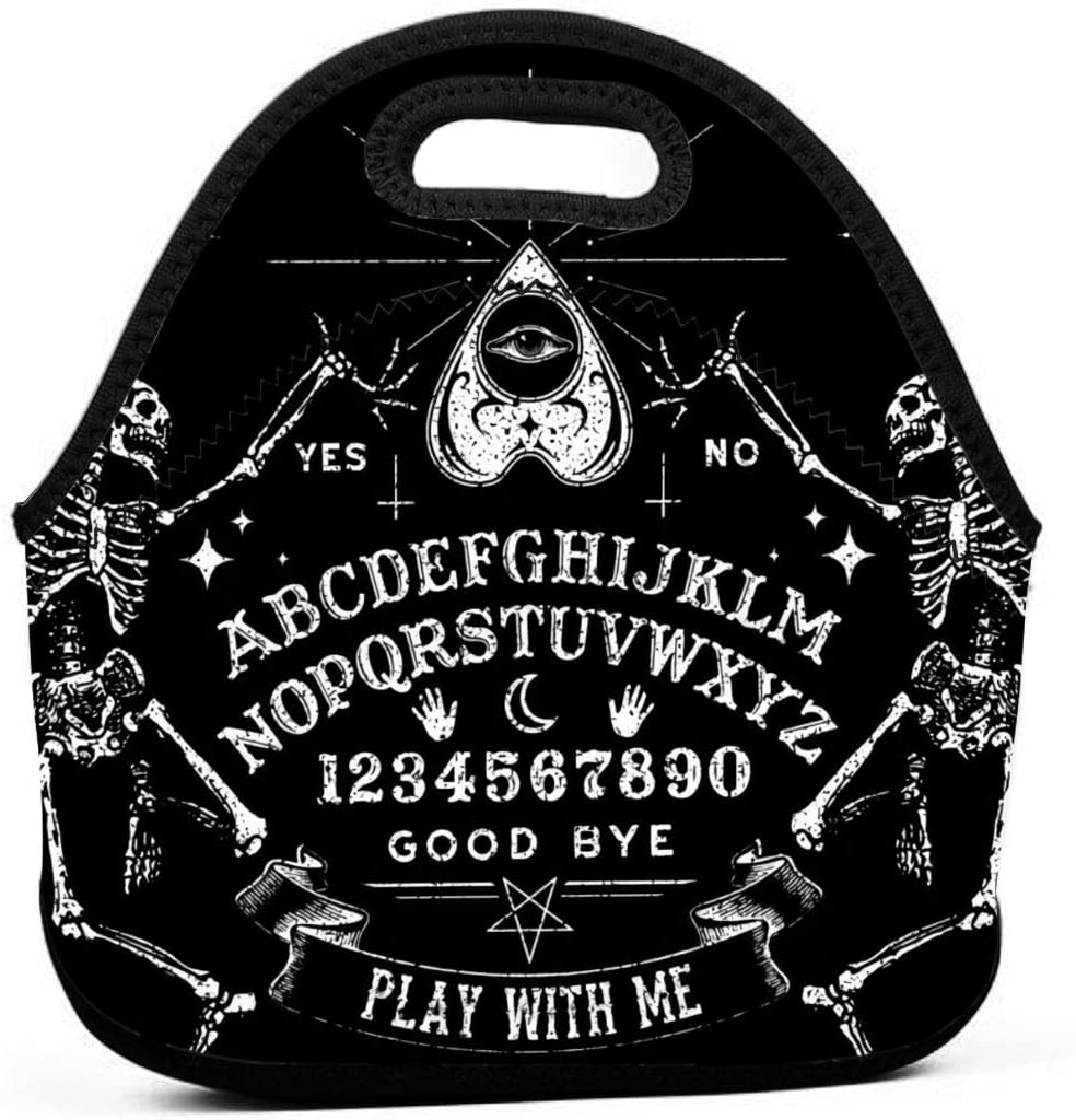 NiYoung Memphis Mall Lunch Bag Vintage Skeleton Gourm Today's only Board Ouija Black Magic