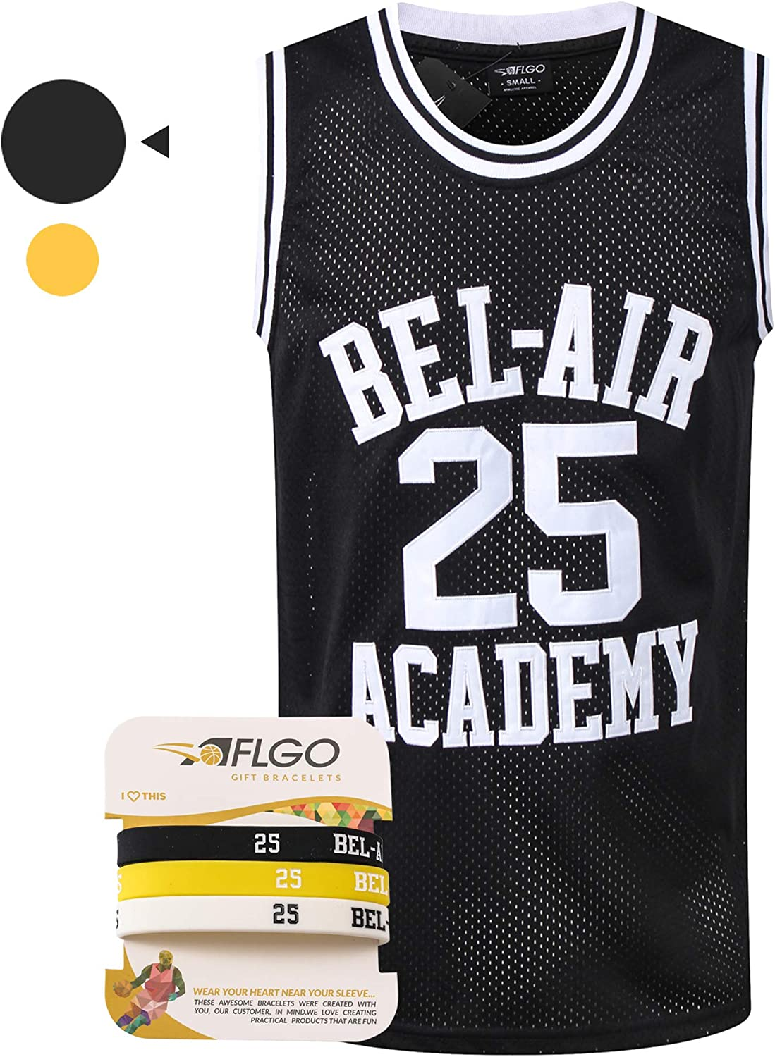 AFLGO Banks #25 Max 89% OFF Fresh Prince Basketball Stitched Jersey Low price Bel-Air