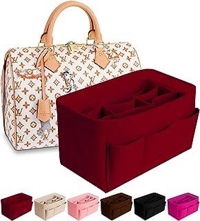 DailyPlus Purse Organizer Insert Felt Bag Organizer Handbag Organizer Insert Bag In Bag Organizer For Tote Fits LV Speedy Neverfull Red Small