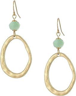 The Sak - Bead Link Double Drop Earrings