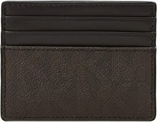 Michael Kors Men's Warren, Tall Card Case, Leather Matrial - Brown