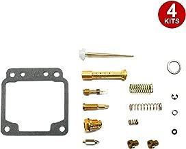 ALPHA MOTO 4 X Carburetor Carb Repair Rebuild Rebuilt Kits Compatible with Yamaha XJ650 XJ 650 Midnight Maxium 1980-1983