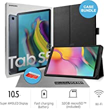 Samsung Galaxy Tab S5e SM-T720 10.5-Inch Touchscreen 64GB Tablet (4GB Ram, Wi-Fi, Android, Black) International Version Bundle with Case, Screen Protector, Stylus, 32GB microSD Card and Cleaning Cloth
