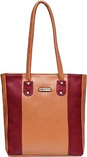 Fristo Women Handbag(FRB-110) Tan and Maroon
