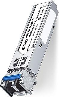 ipolex ギガビット SFP シングルモード 1000Base-LX/LH 光トランシーバ モジュール Cisco GLC-LH-SMD、Cisco Meraki、Ubiquiti、Netgear、D-Link、Supermicro、Mik...
