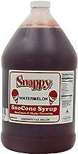 Snappy Popcorn Snappy Snow Conce Syrup 1 Gallon, Watermelon, 11 Pound