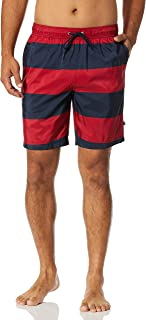 Men's Standard Quick Dry Rugby Stripe Series Swim Trunk
