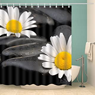 Youngshion National Home Decor Shower Curtain Art Painting 3D Digital Printing Bathroom Background with Hooks (Shasta Dais...