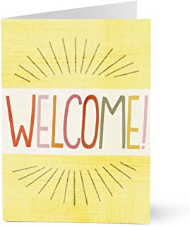 Hallmark Business Welcome Card for Employees (Burst of Welcome) (Pack of 25 Greeting Cards for Business)