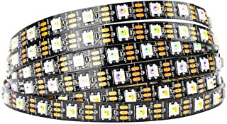 BTF-LIGHTING RGBW RGB+Cool White SK6812 (Similar WS2812B) Individually Addressable 16.4ft 60LEDs/Pixels/m Flexible 4 Colors in 1 LED Dream Color LED Strip IP30 Non-Waterproof DC5V Black PCB