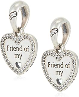 Sterling Silver Hearts of Friendship Dangle Charm 792147CZ