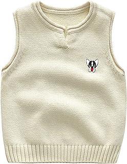 40e9c95fc0f03 Shengwan Gilet Garçon en Coton sans Manche Pull Sweater Vêtements Enfant  Automne Hiver Débardeur