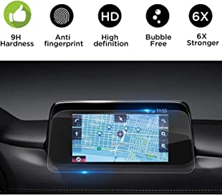 Flyigchan Tempered Glass Screen Protector Compatible with 2017-2019 Mazda CX-5 7 Inch MZD Connect Car Navigation,9H Hardness,High Definition,Protecting Mazda CX5 Car Center Touch Screen