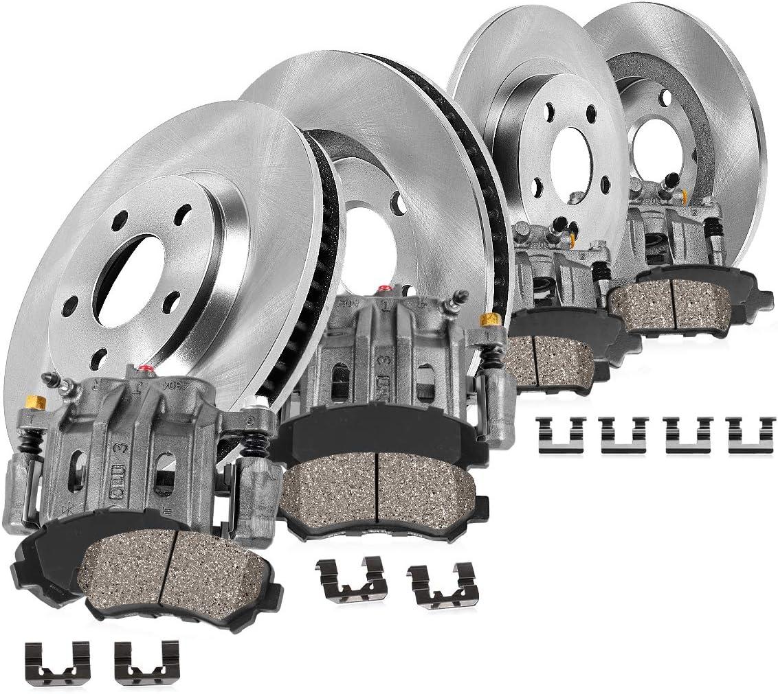 Callahan CCK07106 4 FRONT+REAR OEM Super beauty Over item handling product restock quality top Calipers + Brake Rotors OE