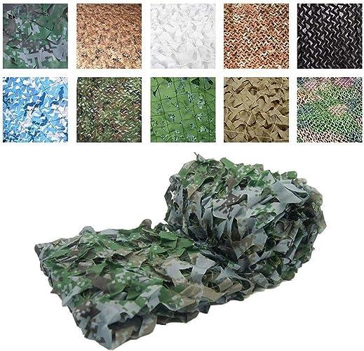 DONG Filet de Camouflage en Tissu Oxford Dissimulé, Camping pour Le Terrain, Chasse au CS, Tir de Jeux de Décoration pour Enfants, 2m  3m, 3m  5m et Autres Tailles (Taille   5x15m)