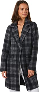 All About Eve Women's Offbeat Plaid Coat Wool Grey