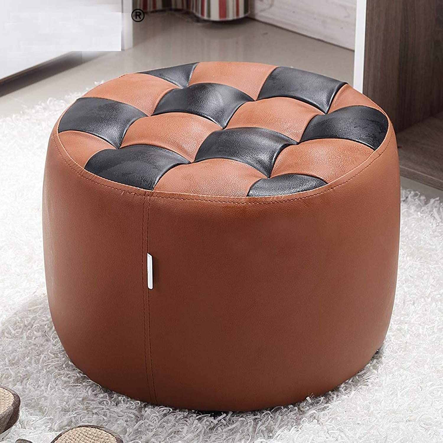 SYFO Household Solid Wood Stool, Fashion Sofa Stool, Simple shoes Bench, Bedroom Makeup Stool Stool (color   Brown)