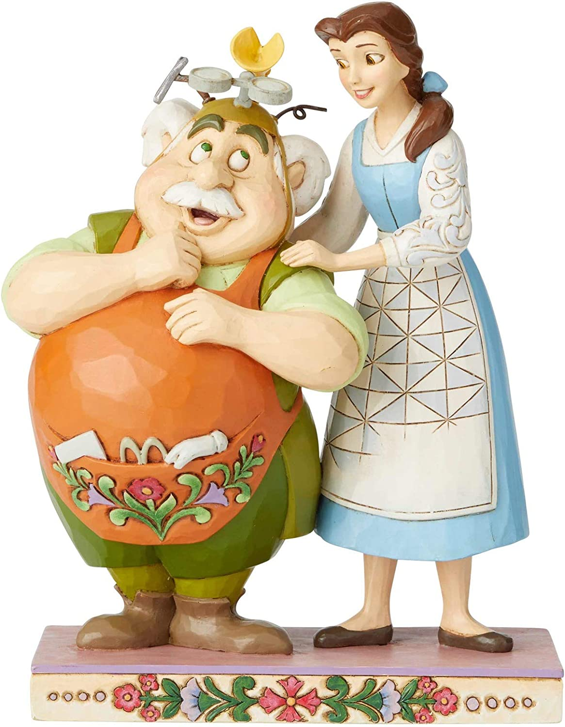 Enesco Disney Traditions by Jim Shore Beauty and The Beast Belle and Maurice The Inventor Figurine, 9 Inch, Multicolor
