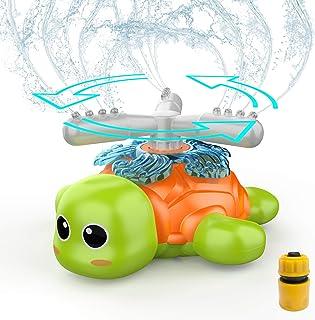 FOSUBOO Jouets Sprinkler, Jouet Arroseur Tortues Rotatives, PulvéRisation d'eau Jouet, D'Arrosage, De D'éTé Printemps Exté...