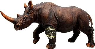Ebros African Safari Grasslands Rhinoceros Beast Decorative Figurine 11