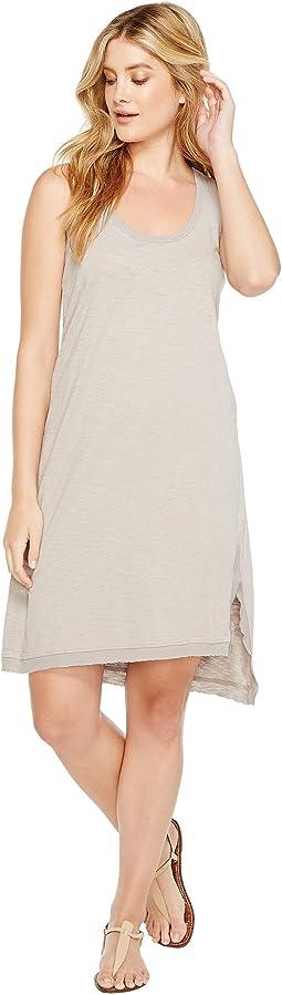 Luxe Cotton Slub Asymmetrical Slit Dress