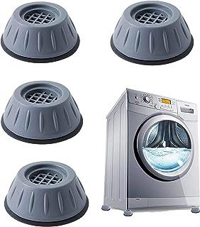 Patins anti-vibrations caoutchouc antidérapant, 4 Pièces Tampons À Pied Machine À Laver Anti Vibration Tampon, pieds de ma...