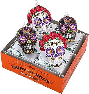 Shiny Brite Radko Halloween Skull La Calavera Catrina Day of The Dead Ornaments
