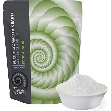 FOSSIL POWER Food Grade Diatomaceous Earth Organic Powder - 100% Natural, 1 lb Bulk - Fossil Fuel DE Food - Safe for Humans and Pets Consumption
