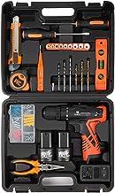 LETTON Taladro Destornillador, Taladro sin Cable 16.8V + 2 Baterías de Iones de Litio, 48pc Kit Herramientas Universal de Reparación Conjuntos Bricolaje para Casa