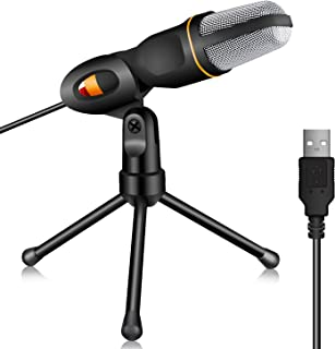 TONOR PC Microphone USB Computer Condenser Studio Mic Plug & Play with Tripod Stand for Chatting/Skype/Facetime/Youtube/Recording/Singing/Podcasting for iMAC PC Laptop Desktop Windows Computer