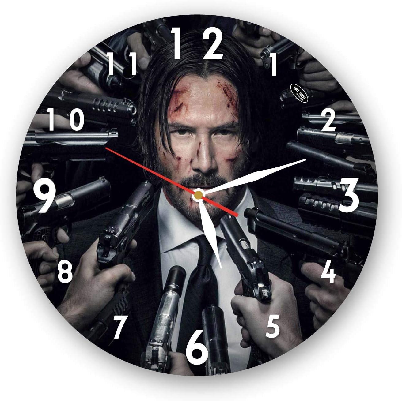 TimeTurnersClock John Wick 11 Clock Wall Handmade Tampa Mall Superior 4