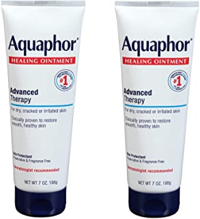 Aquaphor Healing Ointment - Dry Skin Moisturizer - Hands, Heels, Elbows, Lips, 7 oz. Tube, 2 Pack
