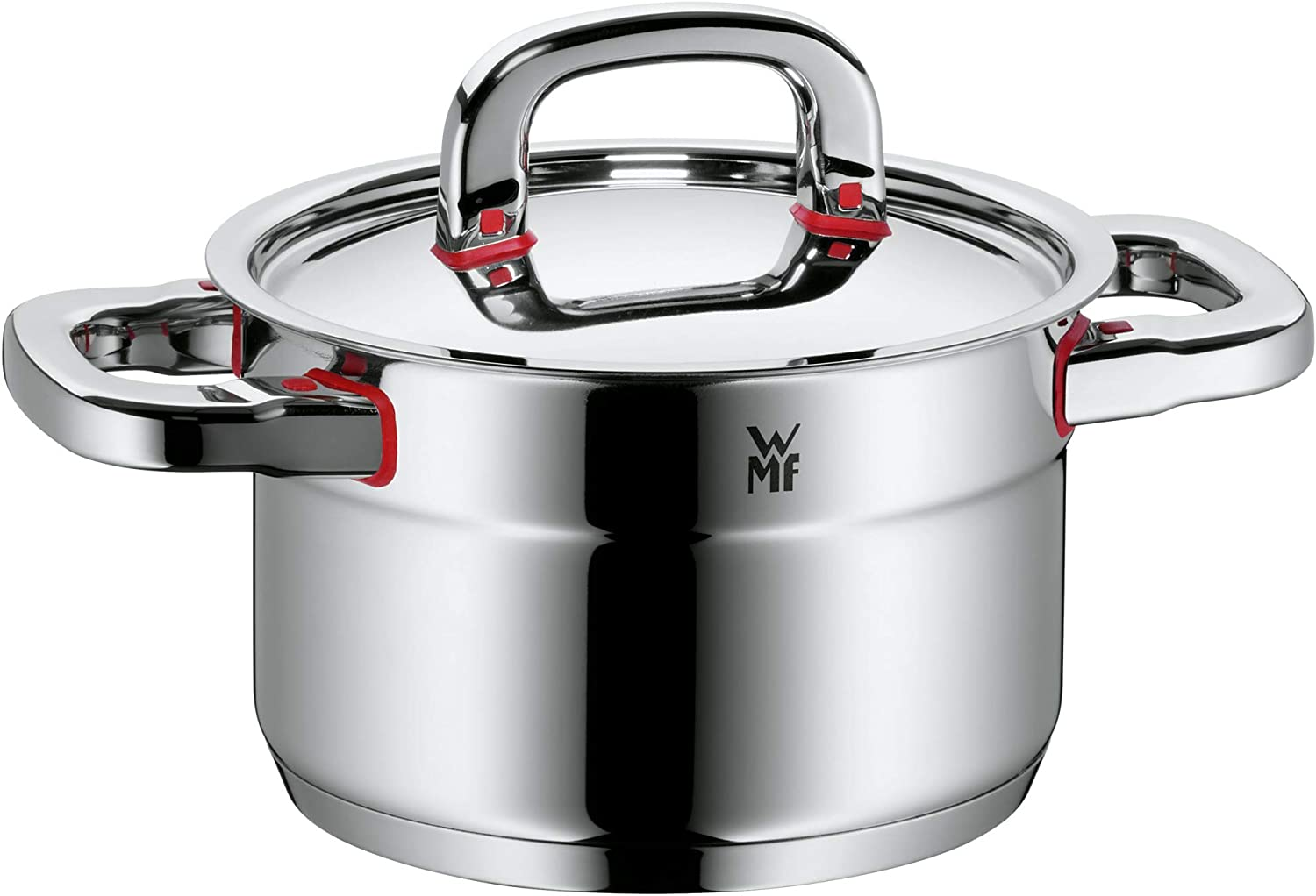 WMF cookware /Ø 20 cm approx 3,3l Premium One Inside scaling vapor hole Made in Germany Cool Technology metal lid Cromargan stainless steel brushed suitable for all stove tops including induction dishwasher-safe