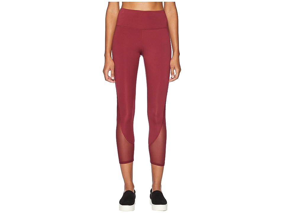 Kate Spade New York Athleisure Micro Mesh Leggings (Deep Garnet) Women