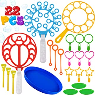 22 Pack of Colorful Bubble Wands Toys Bubble Making Wand Bubbles For Kids