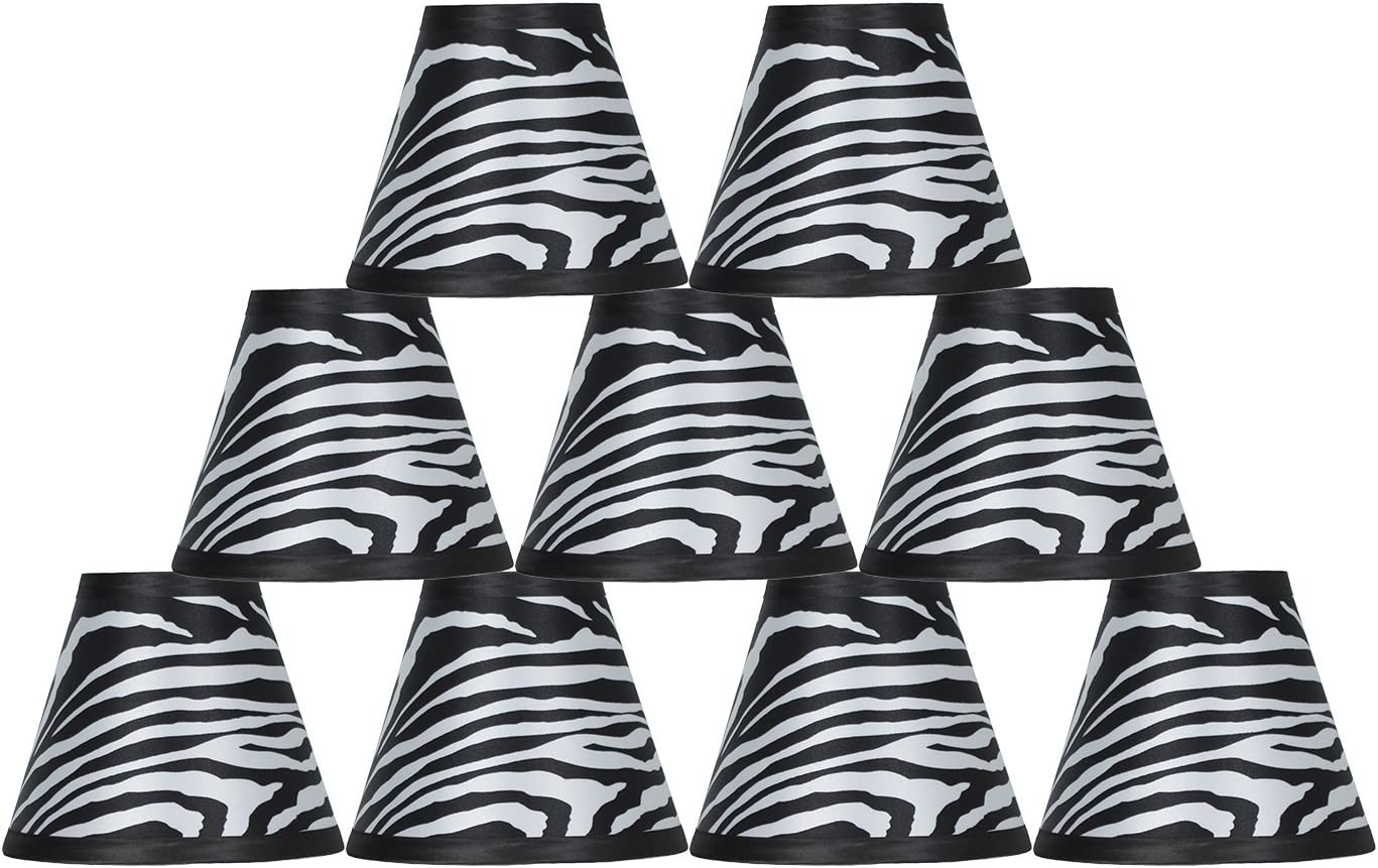 Urbanest Set Selling of 9 Zebra Hardback Lamp 3