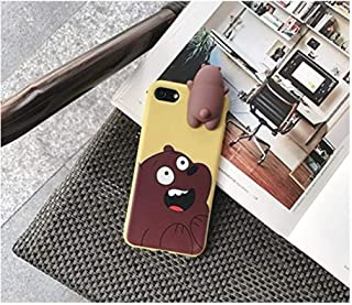 GADGETSMX Funda para iPhone 6 6s 6+ 6s+ 7 7+ 8 8+ Osos Escan