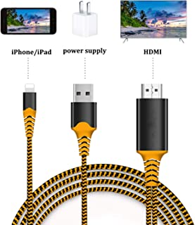 Compatible with iPhone HDMI Cable, HDMI Cord, 1080P Digital AV Converter Adaptor to HDTV/Projector/Monitor Connector, Compatible with iPad iPhone Xs MAX XR X 8 7 6Plus
