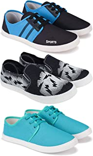 Bersache Combo Pack of 3 Training Shoes, Walking Shoes, Gym Shoes, Sports Shoes, Running Shoes, Sneakers Shoes, Loafers Sh...