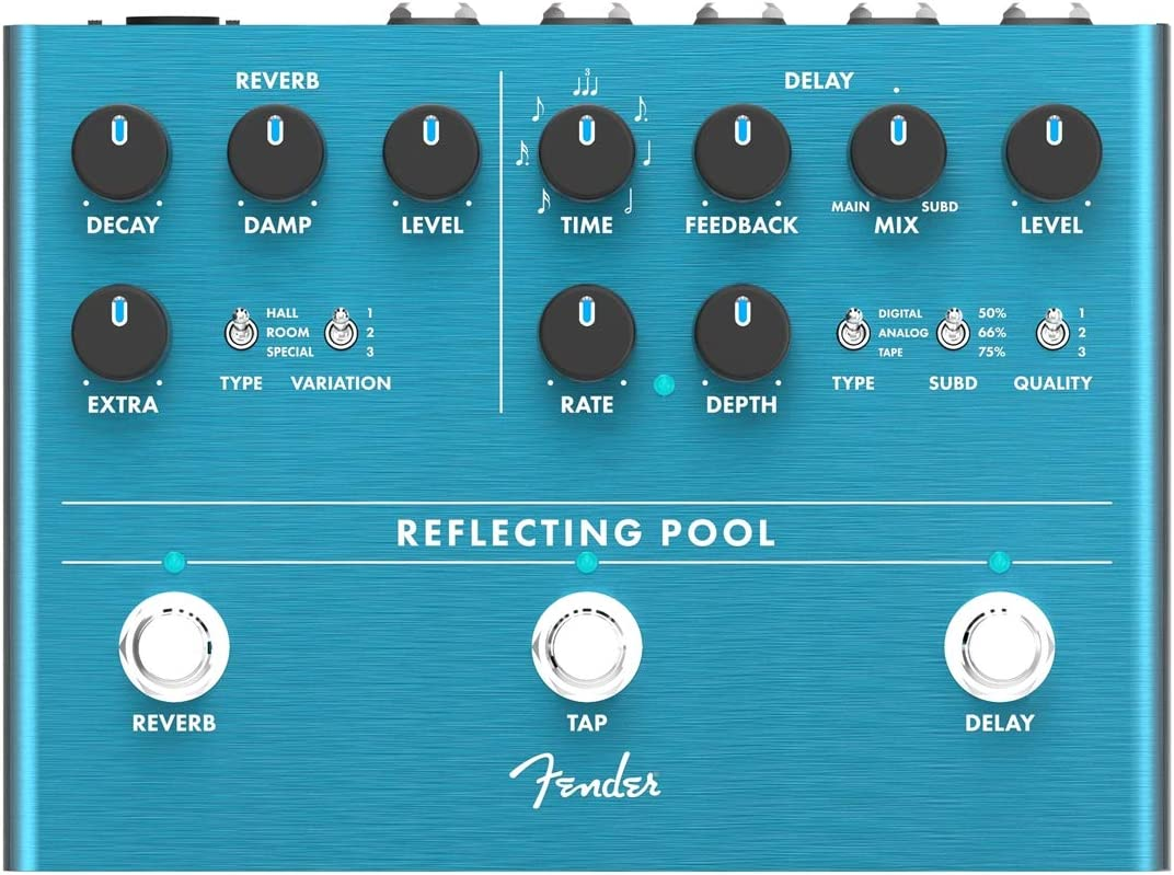 Fender® Pedal de efecto reverberación para piscina