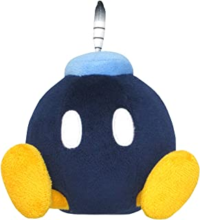 "Sanei Super Mario All Star Collection 5"" Bob-omb Plush, Small"