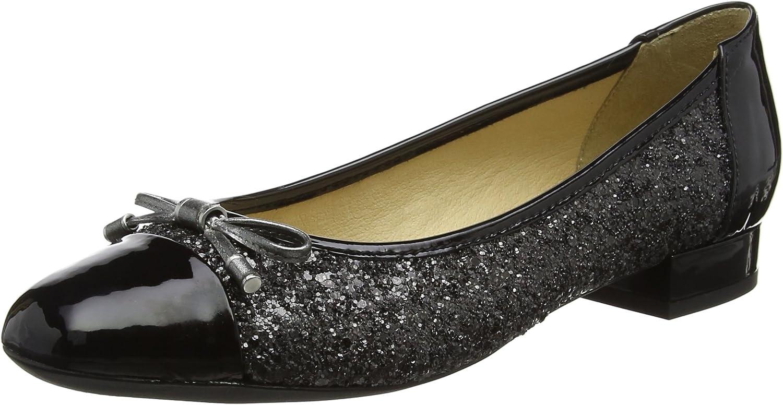 Geox Women's D Wistrey F Ballet Flats, Grey (Gun/Black), 6 UK