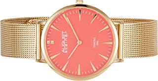 August Steiner Womens Quartz Watch, Analog Display and Stainless Steel Strap AS8207YG