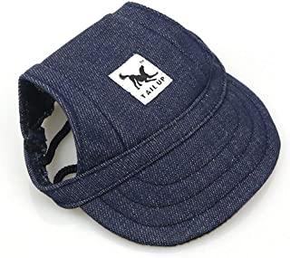 Leson Baseball Caps Hats with Neck Strap Adjustable Comfortable Ear Holes for Small Medium and Large Dogs in Ourdoor Sun P...