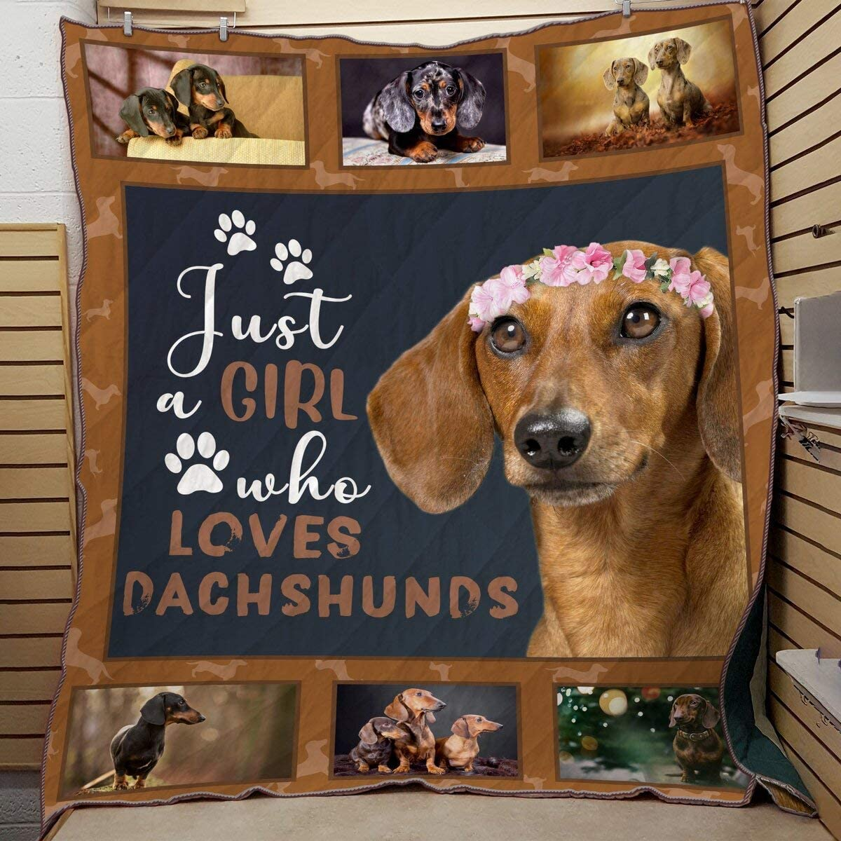 safety Personalized Dachshund Just A Girl Who Al Quilt Dachshunds Loves Max 48% OFF