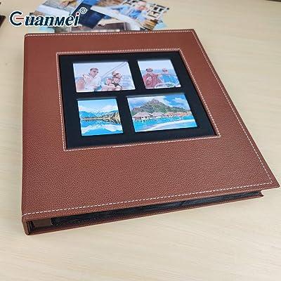 Cicilin Album Photo pour 600 Photos de 4x6'' Couverture en Cuir Grande Capacité pour Mariage Famille Voyage Photos Marron